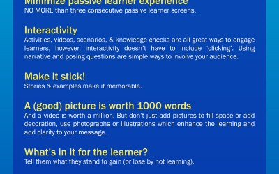 Top 10 eLearning tips – Infographic